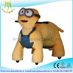 Hansel factory price amusement park kid scooter electric animal ride on wheel