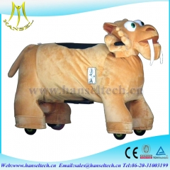 Hansel best selling kids amusement rides electric ride on furry animals in mall